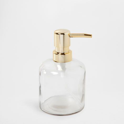Doseur poussoir dor accessoires bain zara home for Accessoire salle de bain dore