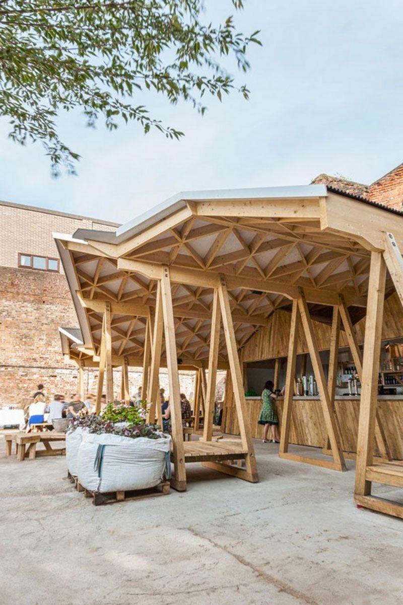 Estructura de madera retail bars restaurants hotels botigues pinterest estructura de - Casas con estructura de madera ...