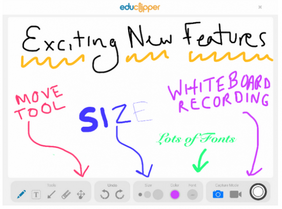 Create Whiteboard Recordings on the Updated eduClipper