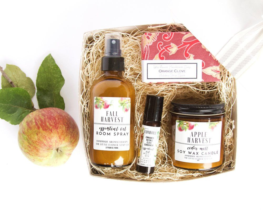 Fall Harvest Home Scents Gift Box Apple Harvest Essential Oils Room Spray Decor Gifts