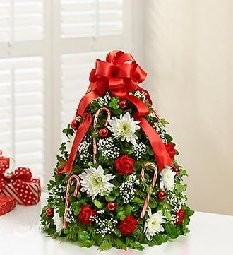 Holiday Flower Tree Flowers Roses Christmas Tree Gift Houston They Have So Many Beautiful Product Christmas Tree Crafts Christmas Flowers Holiday Flower