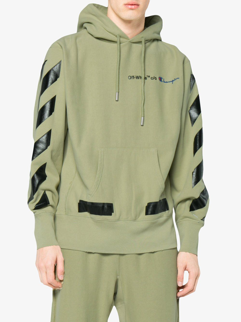 Camo Green Champion Hoodie By Off White Green Champion Hoodie Hoodies Hoodie Design [ 1334 x 1000 Pixel ]