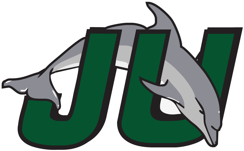 Jacksonville Dolphins Primary Logo 1996 Dolphin Jumping Through Teal And Black Ju Jacksonville University College Logo Usc Basketball