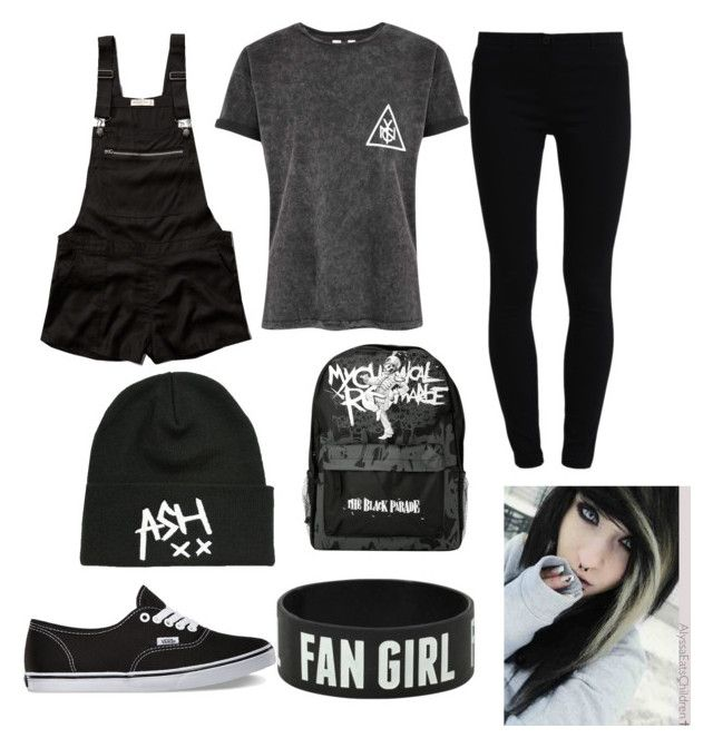 """All black tag"" by awk8chocolatecake ❤ liked on Polyvore featuring мода, Abercrombie & Fitch, Dorothy Perkins и Vans"