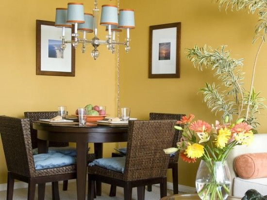 Comedor Amarillo Decoracion De Interiores Pintura Colores Para Sala Comedor Decoracion De Comedor