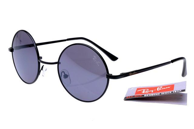 f7711dc173 Round RB8008 RayBan Sunglasses Black -- Gray Lens  14.93