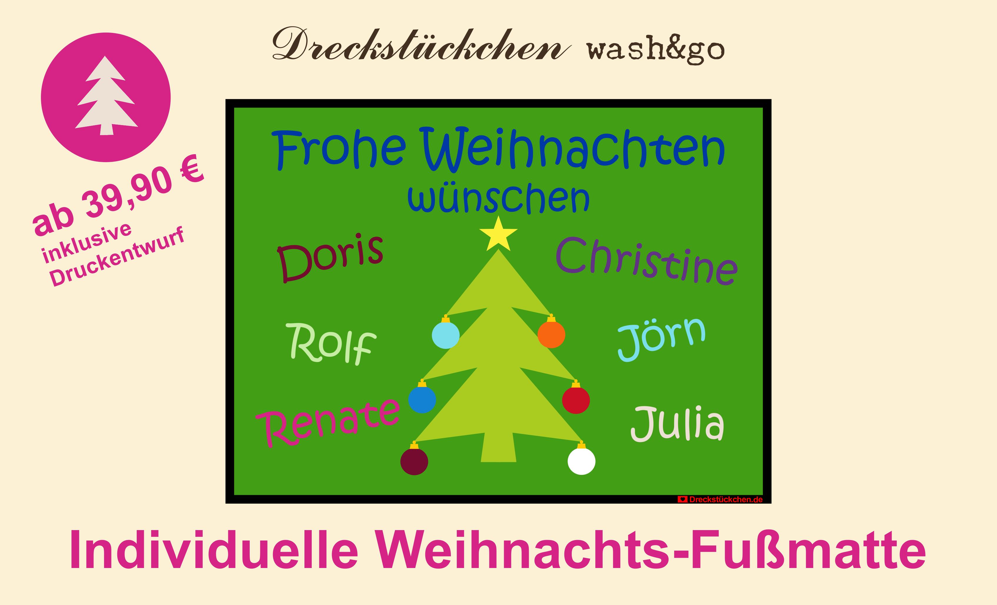 Weihnachtsbaum Mit Kugeln Individuelle Weihnachts Fussmatte