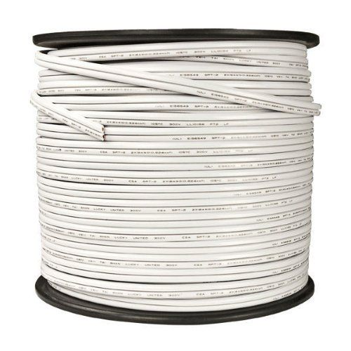 250 ft. - White - 18 AWG - SPT-2 Rated - Commercial Christmas Wire by HLS. $59.30. Brand HLS - Part No. WIRE-0250-2-WHT - Connection No End Plugs - Total String Length 250 ft. - Type Bulk Wire - Wire Color White - Wire Gauge 18 AWG - Wire Type SPT-2 - UL Listed Indoor/Outdoor -