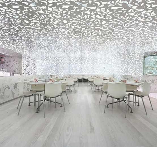 Beijing noodle no minimalist restaurant interior design