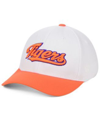 free shipping e5b95 a2d0f Top of the World Clemson Tigers Tailsweep Flex Stretch Fitted Cap - White Orange  L XL