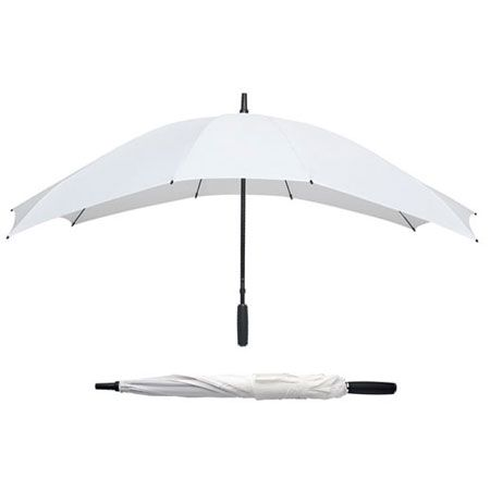 White Wedding Umbrella Large Crook Handle BRIDE BRIDESMAIDS Automatic Brolly