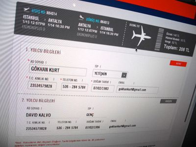 Flight Ticket Form  Ui Design Ui Ux And Ux Design