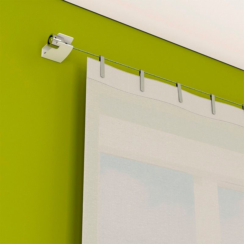 Cables tensores para cortinas buscar con google for Como poner ganchos cortinas