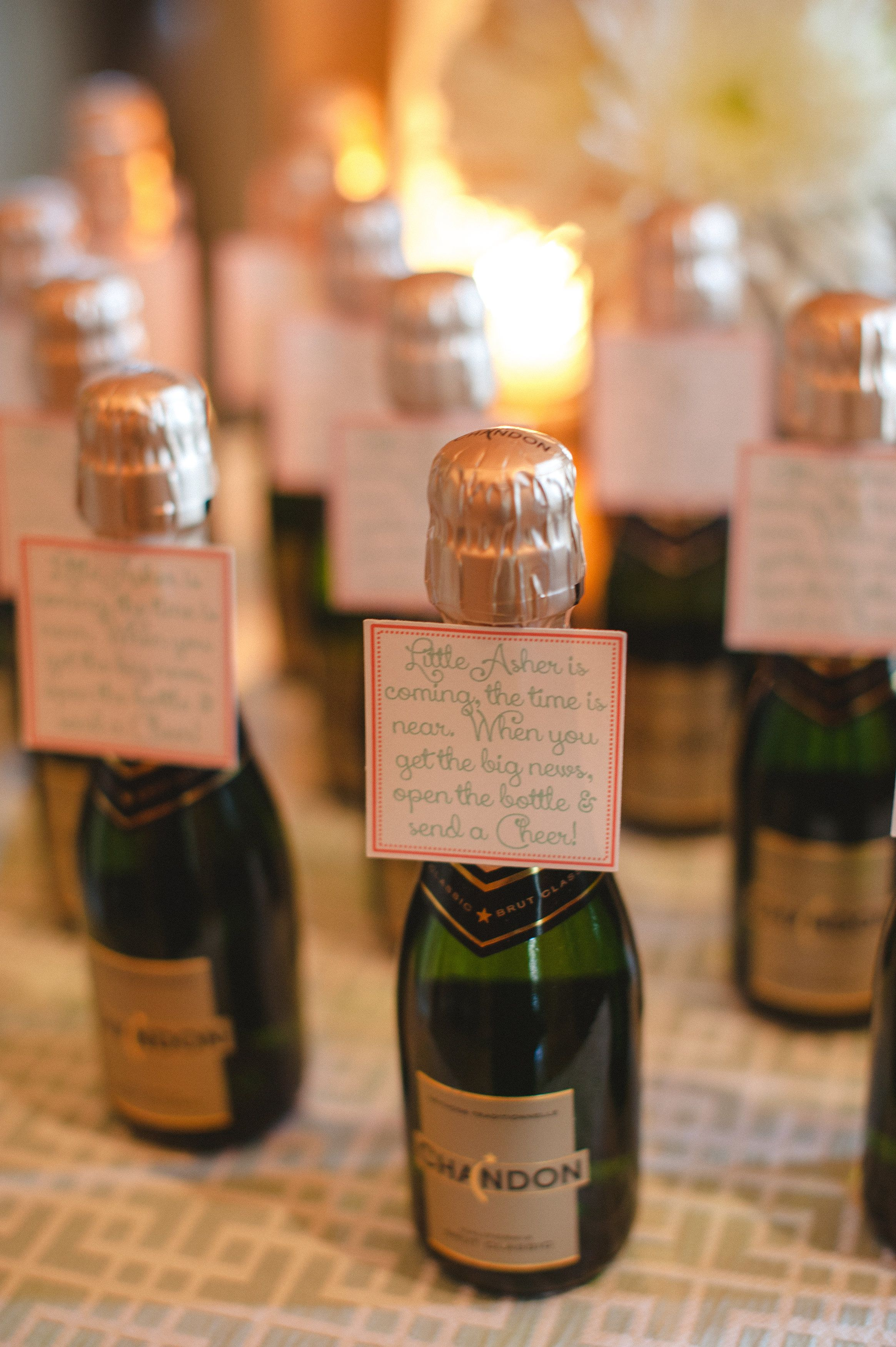 champagne baby shower party favor sparkling Photography Marcie Lynn