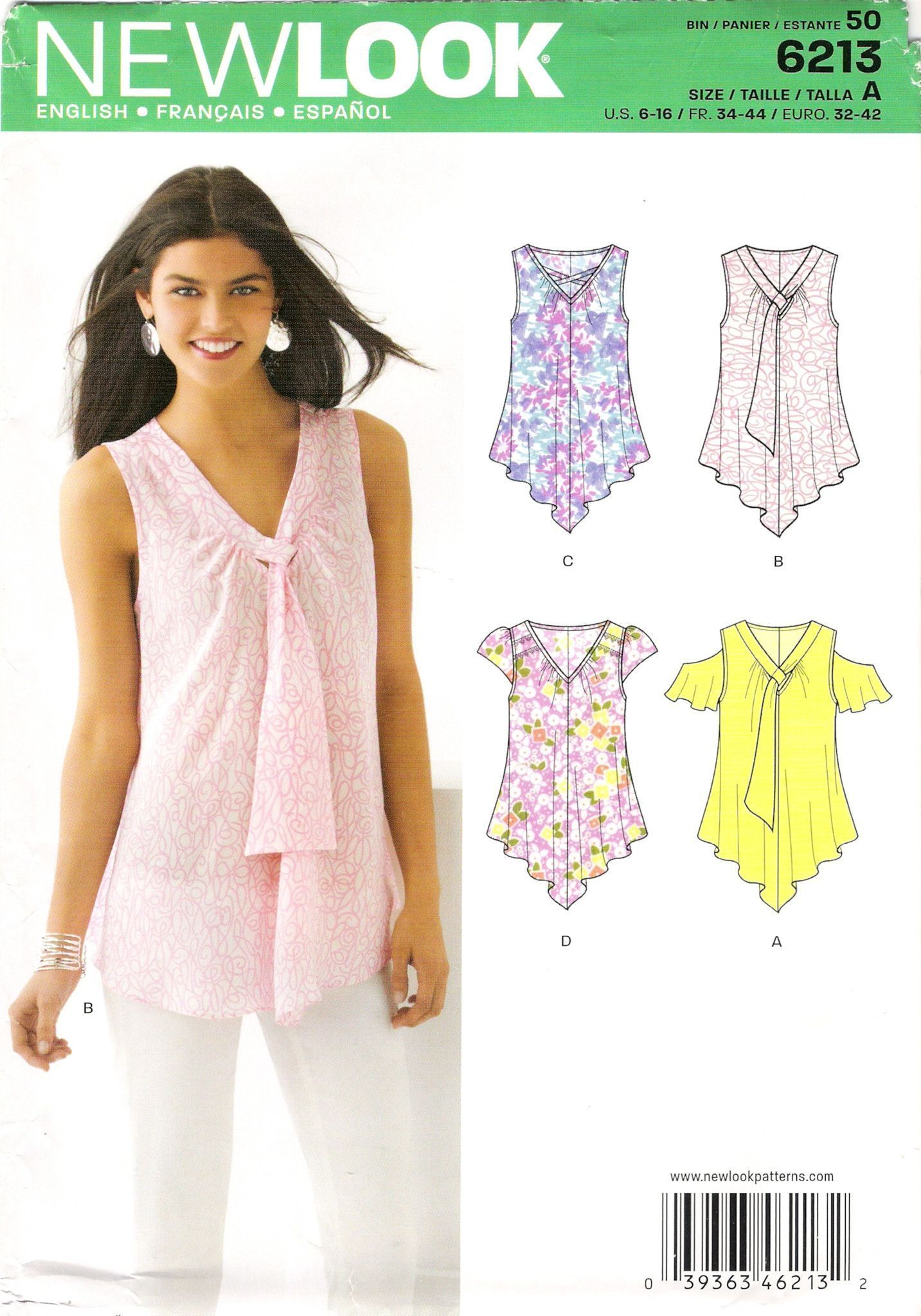 Resultado De Imagen Para Patrones De Blusas Para Imprimir Pdf Top Sewing Pattern New Look Patterns Sewing Dresses