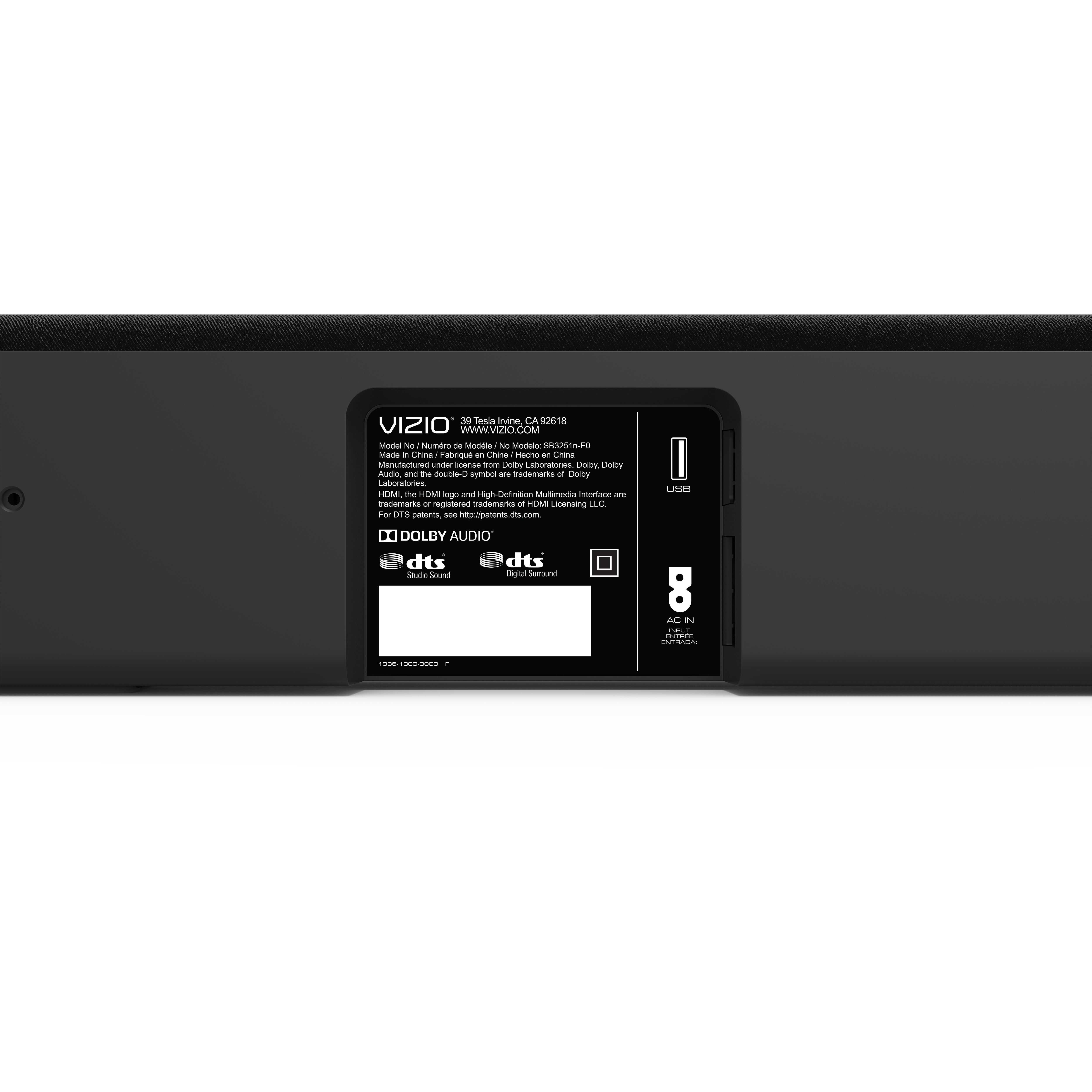 Vizio 32 5 1 Channel Soundbar System With Wireless Subwoofer And Rear Speakers Sb3251n E0 Walmart Com Subwoofer Sound Bar Rear Speakers