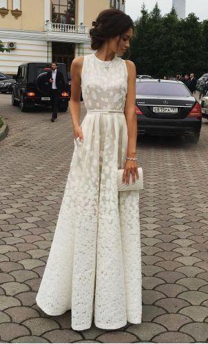 Photo of Ivory charming long cheap custom evening dress formal …
