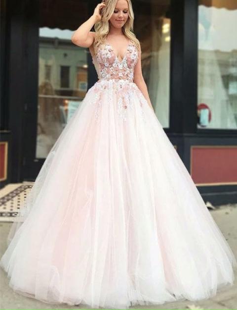 Pink Long Prom Dresses – tsion