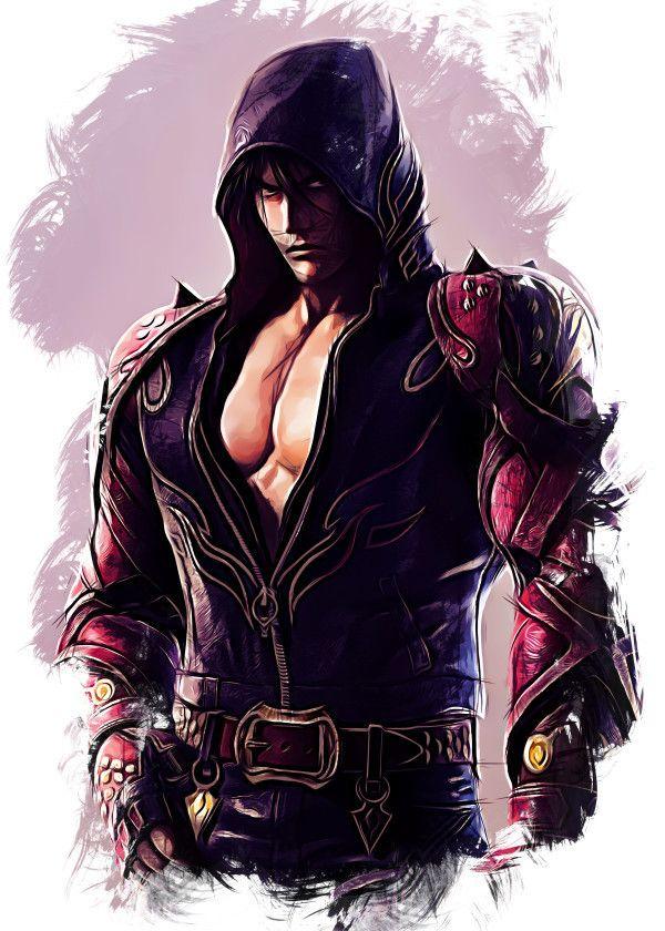 Tekken Character Sketch Jin Kazama Displate Artwork By Artist