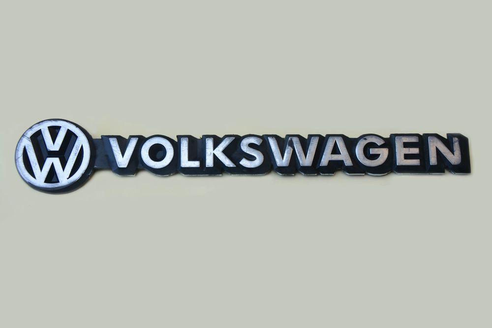 Used Original Vw Volkswagen Emblem Logo Nameplate Plastic Badge