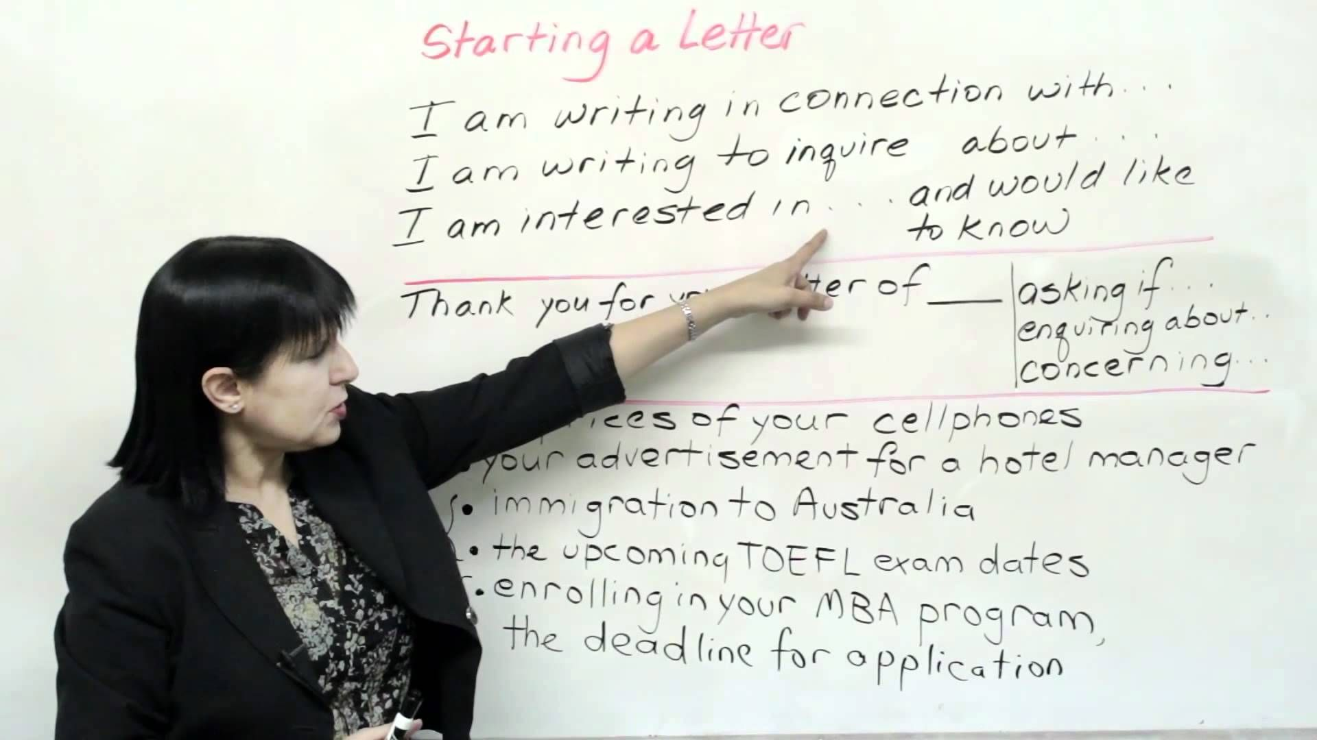 How To Start Writing Any Letter