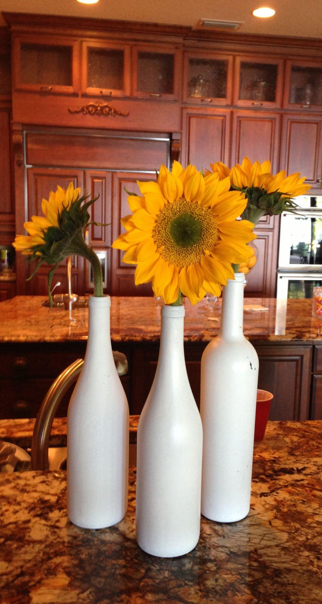 Wine bottles centerpieces | Wine bottle centerpieces, Wedding centerpieces  diy wine bottles, Bottle centerpieces