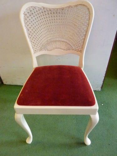 Antik Chippendale Stuhl Weiss Wiener Geflecht Rot Gepolstert Polster Chippendale Stuhle Stuhle Weisse Stuhle