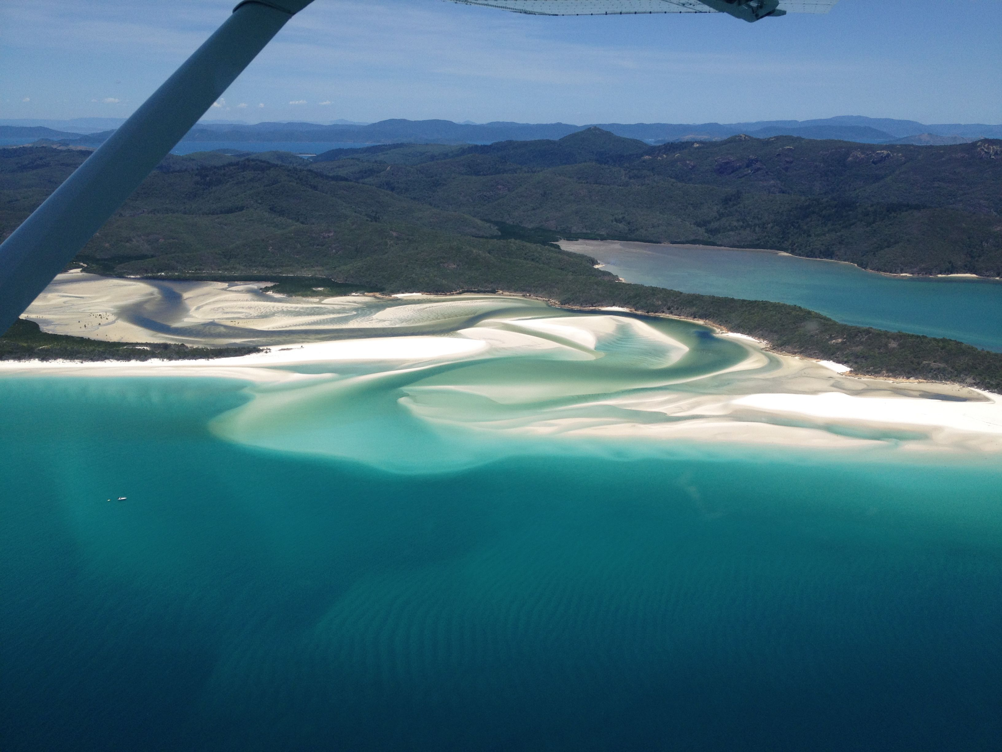 Australia: view coast from airplane. Roundtrip made by ouw customers.