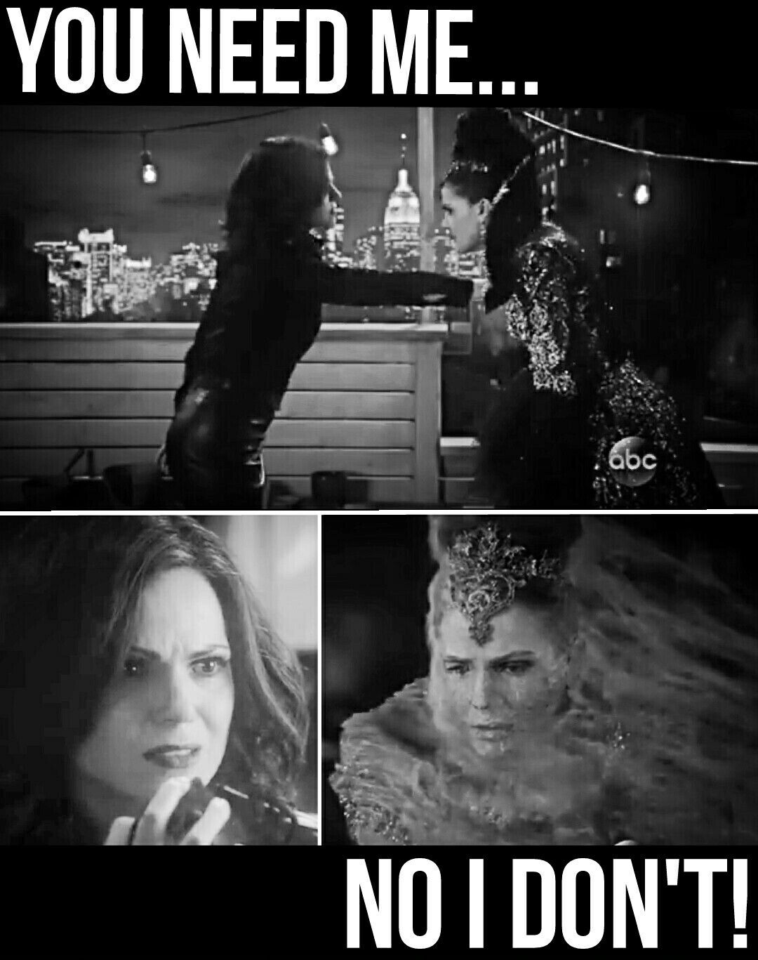 "Regina vs. The Evil Queen  5x22/5x23 ""Only You"" / ""An Untold Story "" #onceuponatime  #ouat #once"