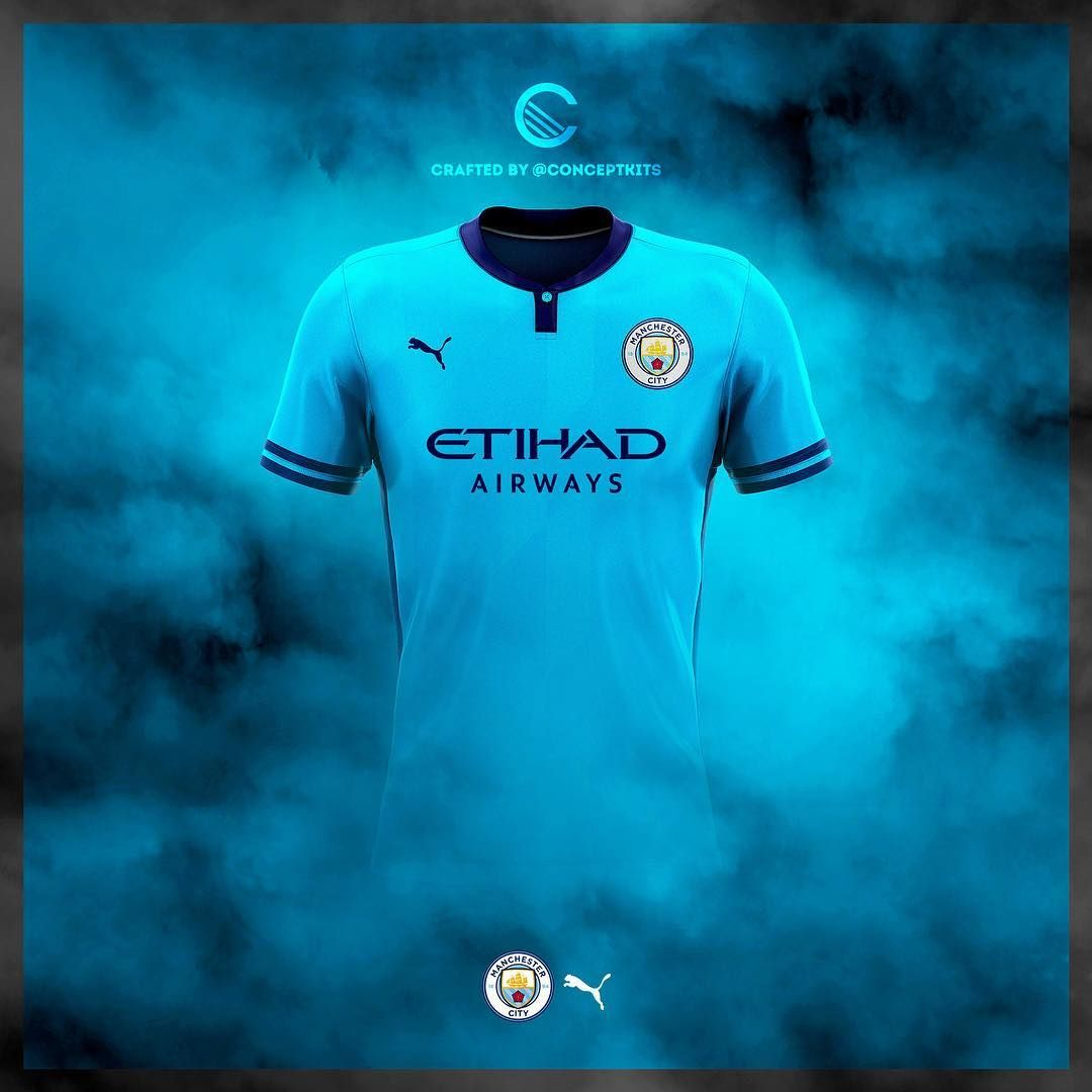Best Of 13 Unique Puma Manchester City 19 20 Concept Kits Footy Headlines Manchester City Sports Uniform Design Manchester