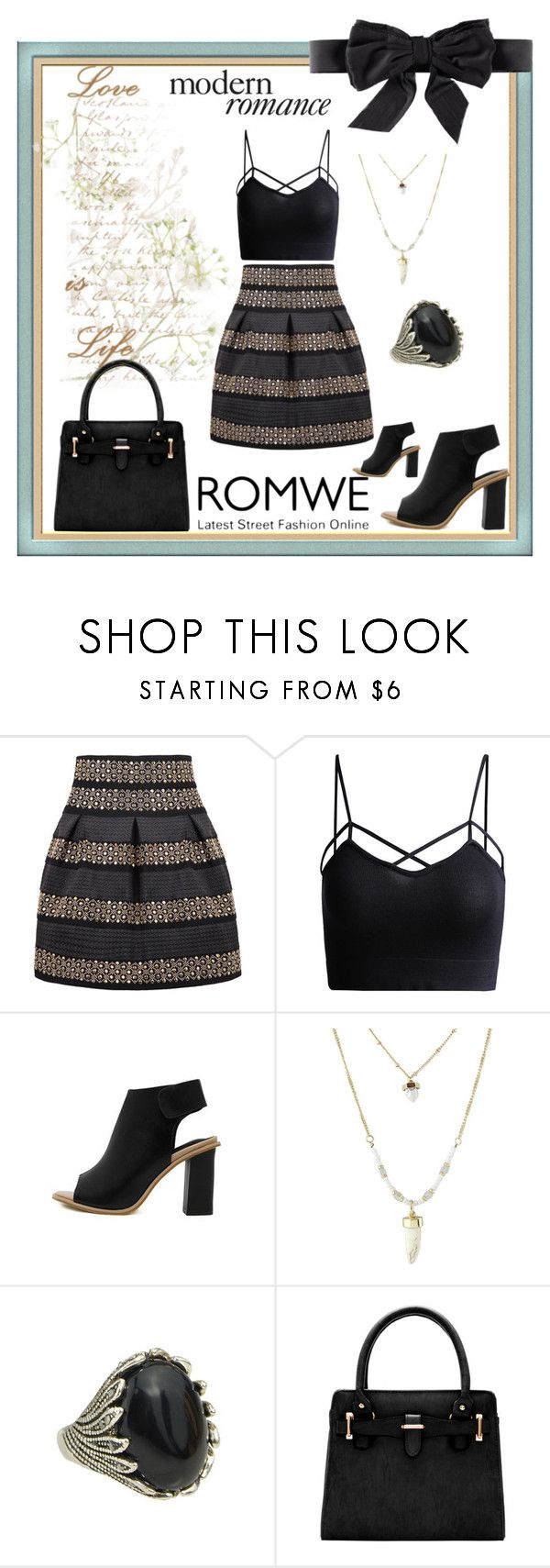 """~Modern Romance~"" by marielle80 ❤ liked on Polyvore featuring H&M, modern and romwe"