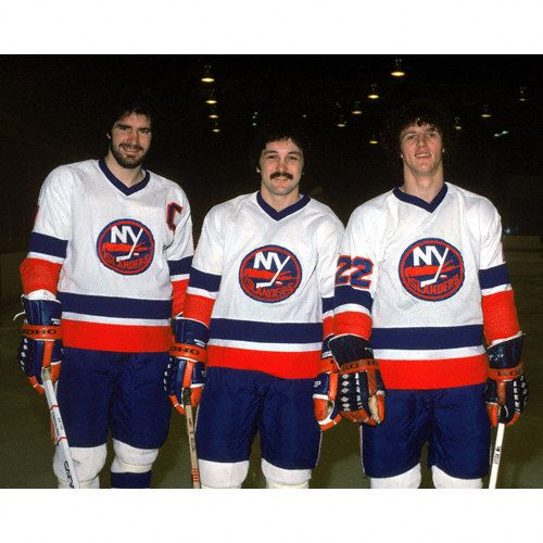 Clark Gillies Bryan Trottier Mike Bossy New York Islanders One Of The Great Scoring Lines In Hockey History New York Islanders Mike Bossy Nhl Hockey Players