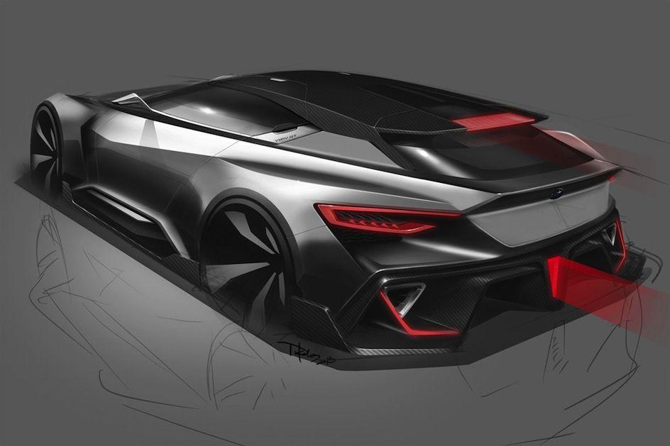 Subaru viziv gt vision gran turismo 25 car sketches renderings croquis voiture dessin - Croquis voiture ...