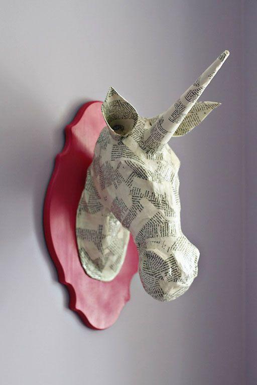Fabulous DIY : Licorne en papier mâché, tutoriel complet ! | Décoration d  ON89