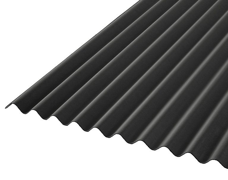 Black Bitumen Corrugated Roofing Sheet 2m X 930mm B Q For All Your Home And Garden Supplies And Advice On All The L Corrugated Roofing Roofing Sheets Roofing