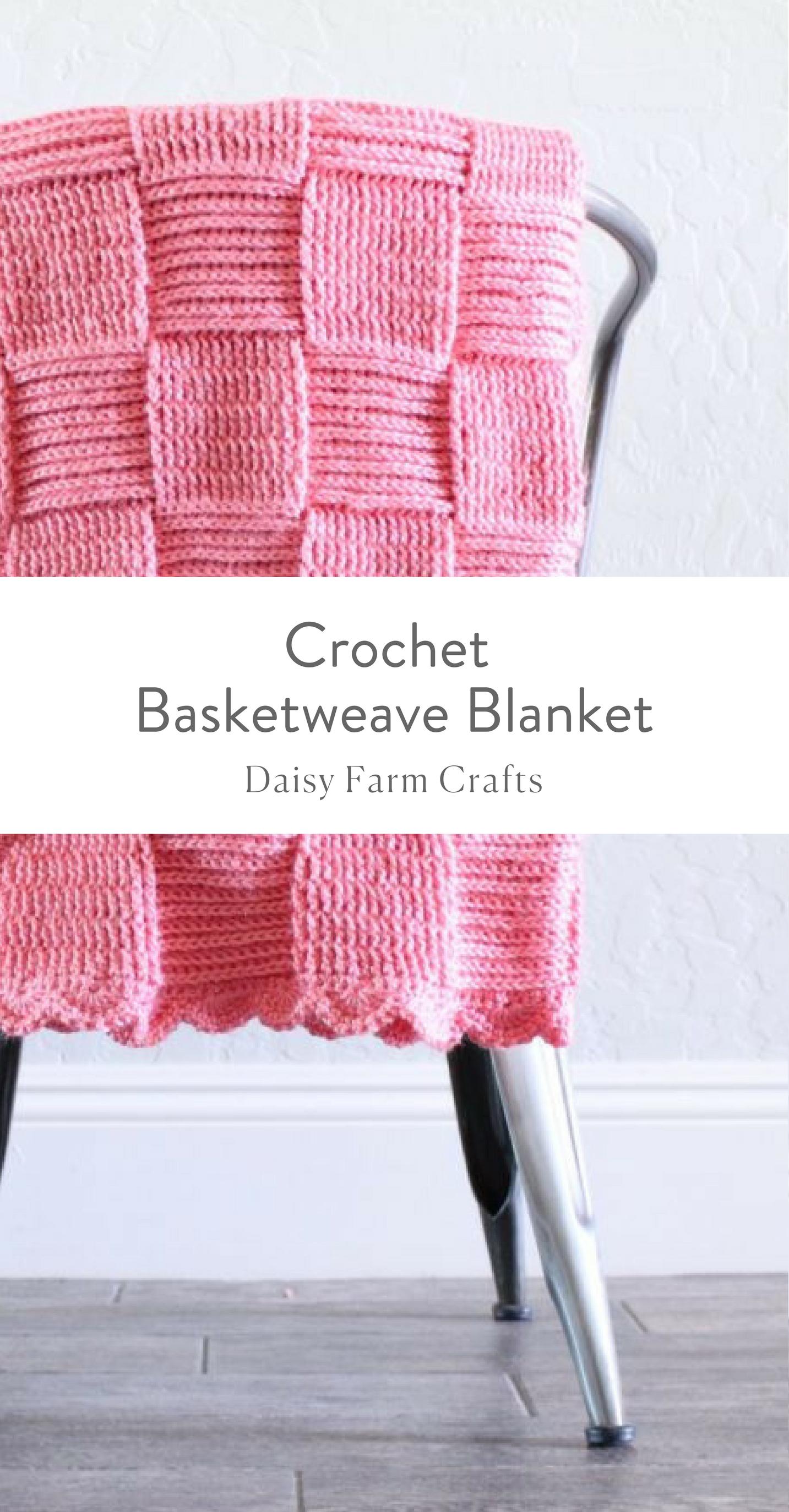 Free Pattern - Crochet Basketweave Blanket | Knit and Crochet ...