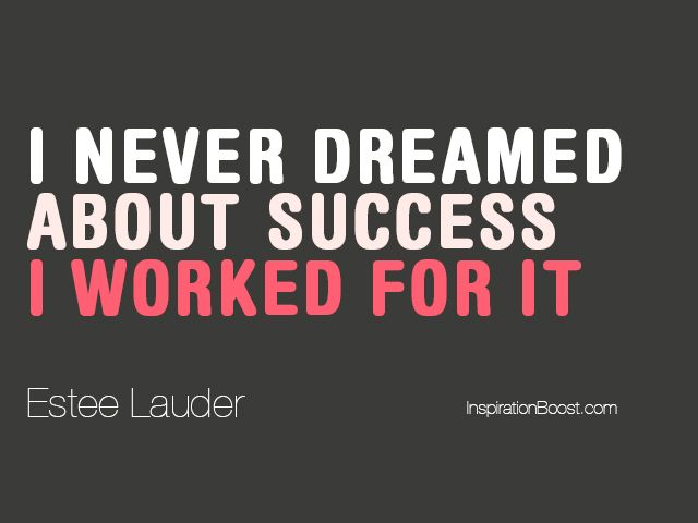 Success Quotes Estee Lauder Success Quotes Inspiration