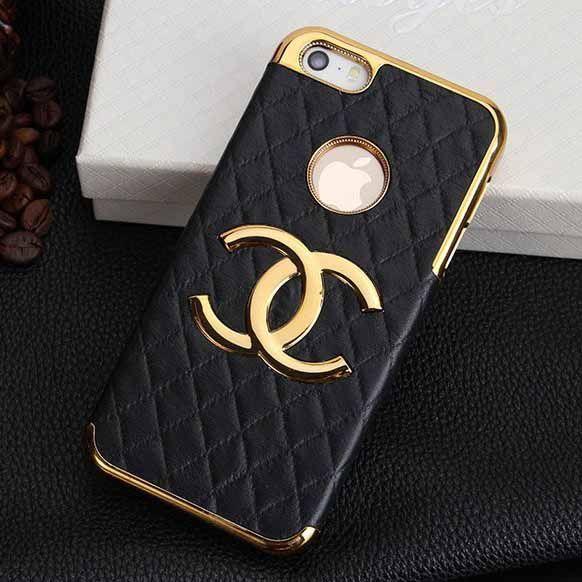 5b4d99645e81 Coque iphone 6 chanel bord métal label apple ouverte- 5 coloris http