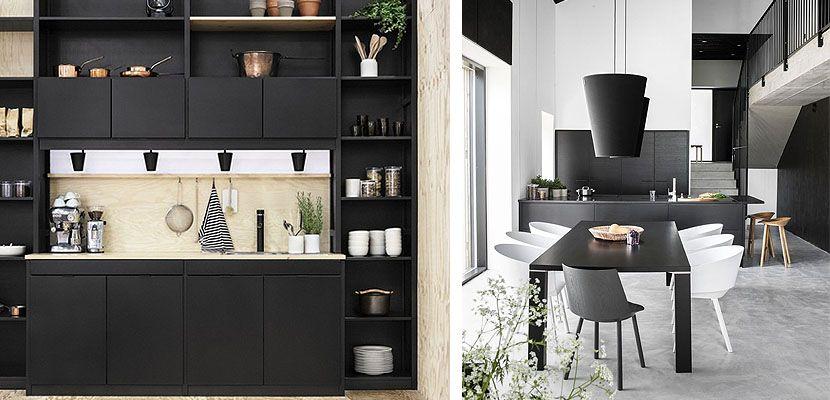 Muebles de cocina negros, una propuesta arriesgada | Cocinas negras ...