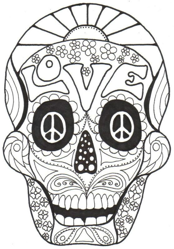 El dia de los muertos 2 - El Dia de los Muertos Coloring Pages for Adults -  Just Color   Skull coloring pages, Adult coloring pages, Coloring pictures   800x558