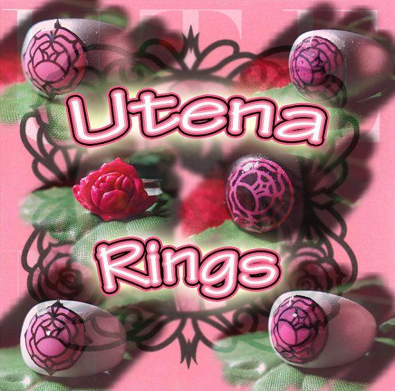 Rose Ring Revolutionary Girl Utena ROSE by glittergaragesales, $21.99