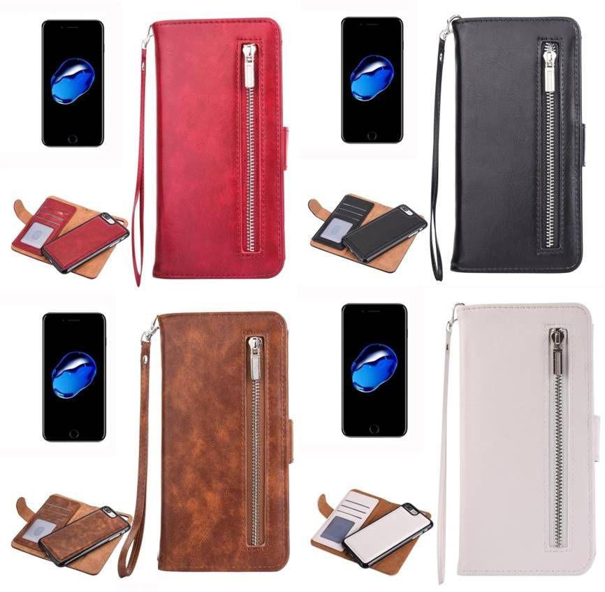 dc733386517 Funda iPhone 7 Plus tipo cartera cuero tarjetero unisex hombre mujer. Funda  para el móvil