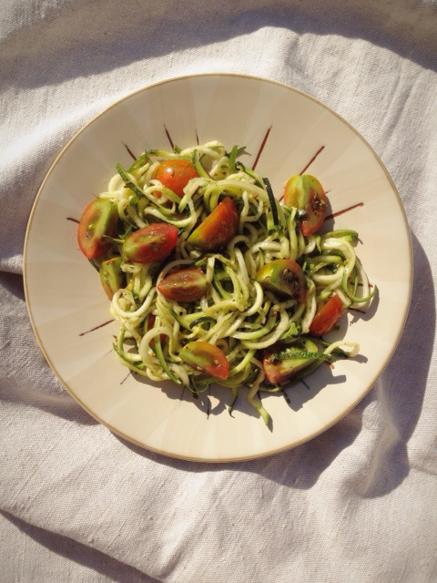 Raw Summer Salad - raw, vegan, gluten-free and dairy-free !  by A Little Rosemary and Time
