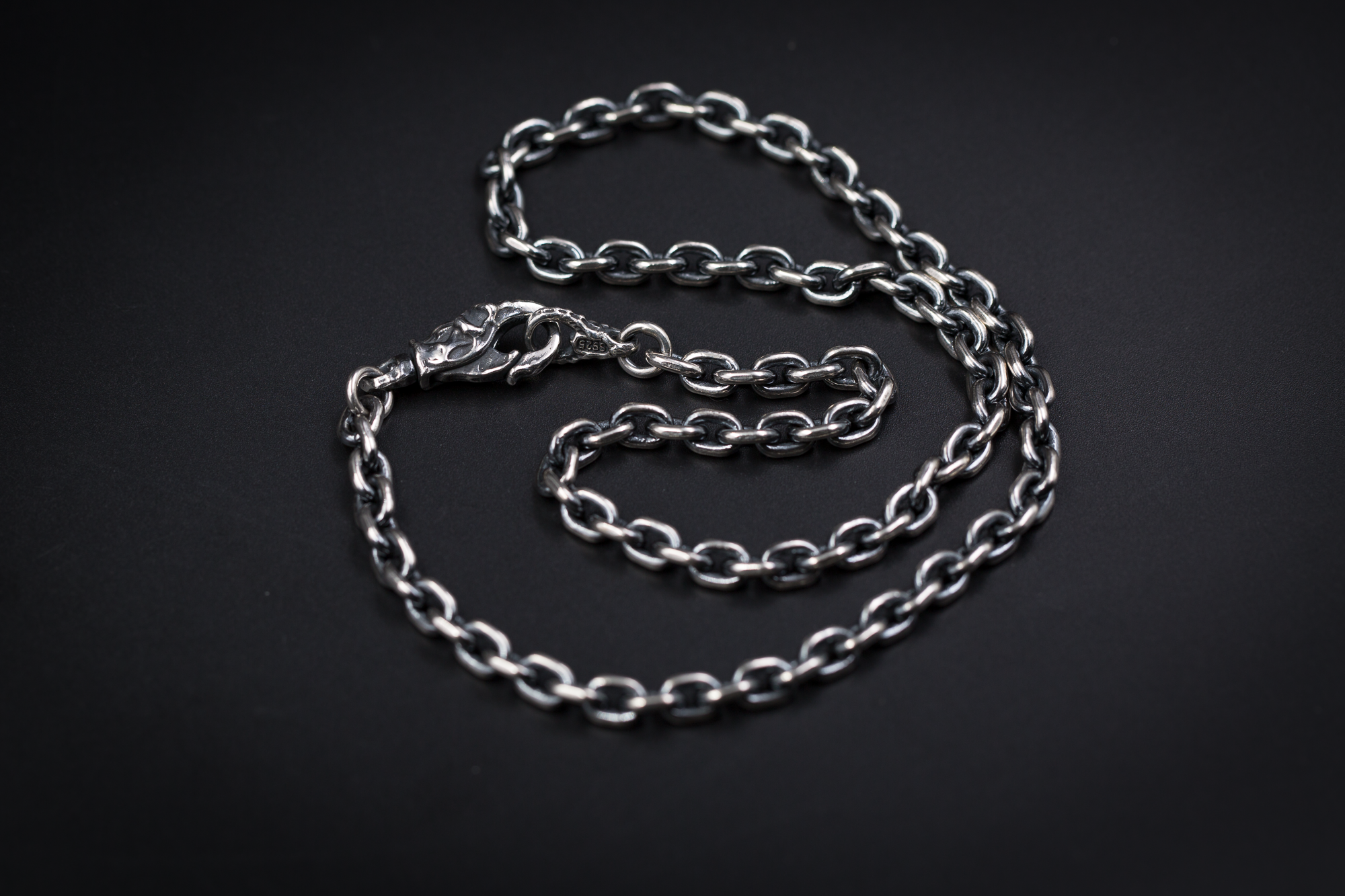 Silver Necklace Chain 5 5mm Skull Head Lobster Claw Etsy Silver Chain Necklace Chains Necklace Jewelry