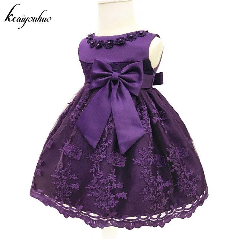 7cfbc5d1f78ff Cheap Keauhou Baby Niñas vestido para princesa fiesta vestido de bautizo  infantil 1 año vestido Navidad