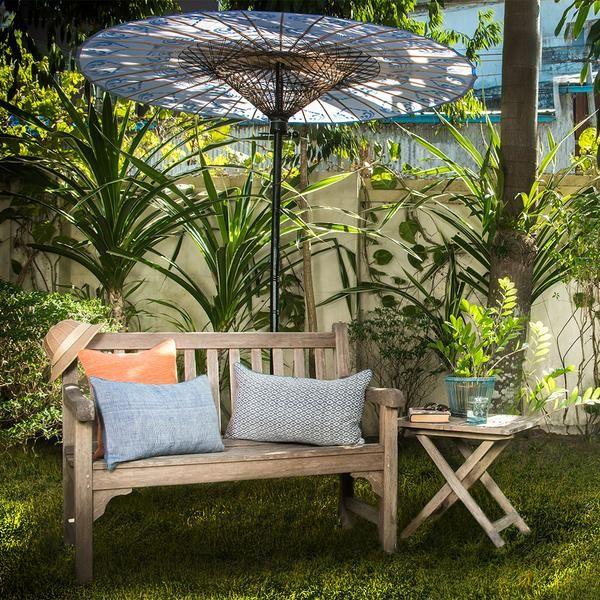 Burmese Garden Umbrella / Parasol from Pathein (in Blue