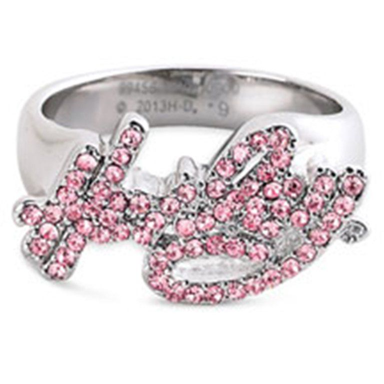 Harley-Davidson® Women's Pink Label Crystal Harley Ring 99456-13VW