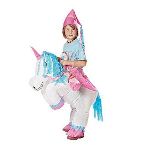 Ride On Unicorn Costume For Halloween - Riding Unicorn Costumes For Kids  sc 1 st  Pinterest & Inflatable White Unicorn Costume Fan Carry Me Children Birthday ...