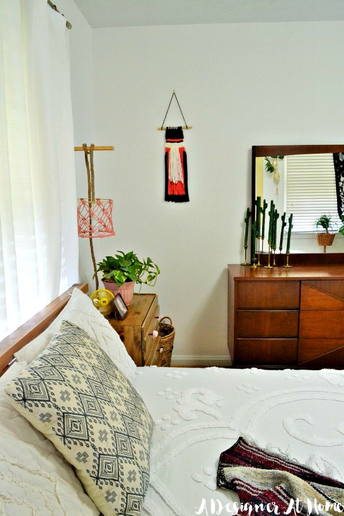 Bohemian Master Bedroom in a Small Home