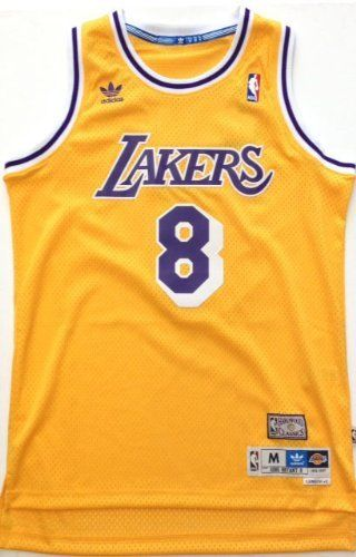 best authentic 92208 3958f L.A. Lakers #8 Rookie Kobe Bryant 80's Showtime Swingman ...